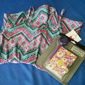 Other - Girls Romper + Diary